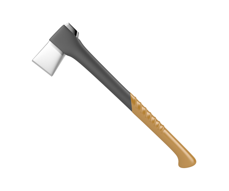 Axe isolated on white background Stock Photo