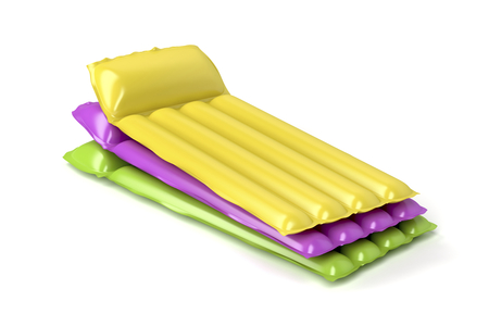 lilo: Group of inflatable beach mattresses with different colors