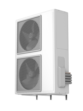humidifier: Outdoor unit of central air conditioner, isolated on white
