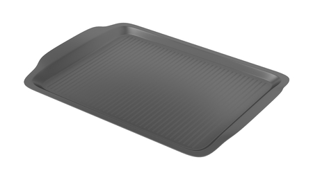 cafeteria tray: Empty plastic tray isolated on white background