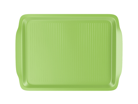 cafeteria tray: Top view of empty plastic tray, isolated on white background