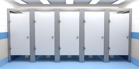 공중 화장실 칸막이 전면보기