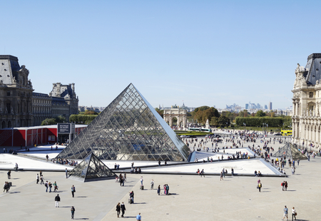 monument historical monument: PARIS, FRANCE - SEPTEMBER 28, 2015: The Louvre Museum, the worlds largest museum in Paris, France