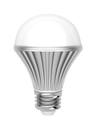 e27: LED bulb on white background