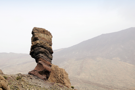 The Roque Cinchado at the Teide National Park in Tenerife, Canary Islands, Spain