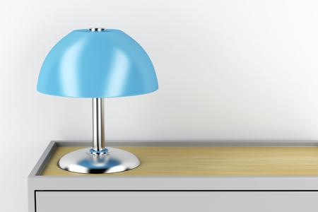 Modern table lamp on nightstand