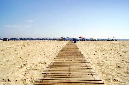 playa blanca: Poniente beach in Benidorm, Spain