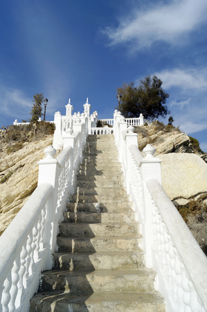 Stairs leading to the Balcon del Mediterraneo in Benidorm, Spain Stock Photo