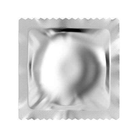 Condom isolated on white background Stock Photo