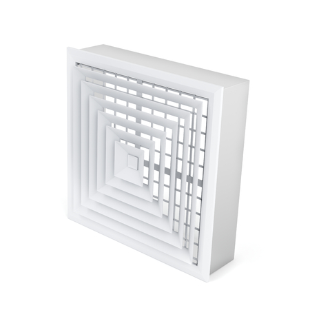 Air vent cover on white background Standard-Bild