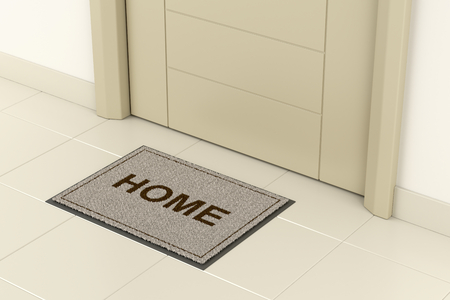 Doormat in front of the main door