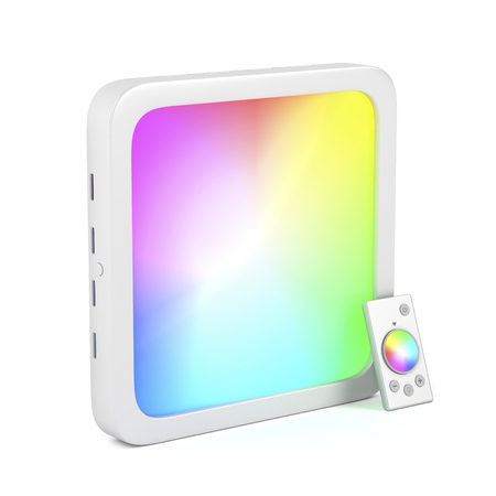 Square led panel with changeable colors and remote control