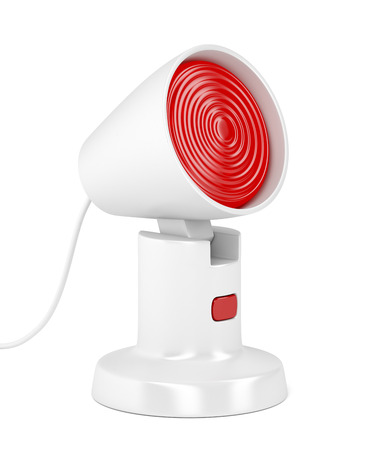 Medical infrared lamp on white background Imagens