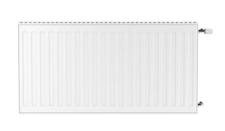 Grzejnik na białym tle, widok z przodu