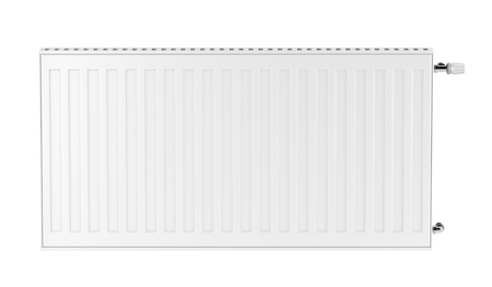 Heating radiator isolated on white background, front view