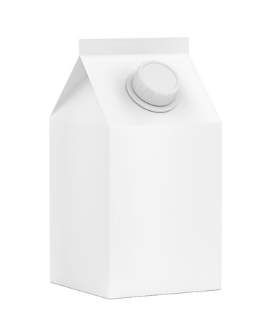 Blank packaging for milk, juice or other beverages
