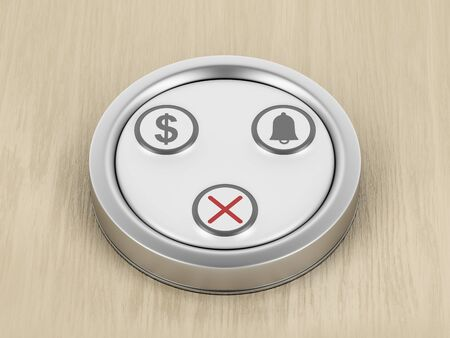 Restaurant table call button, 3D illustration
