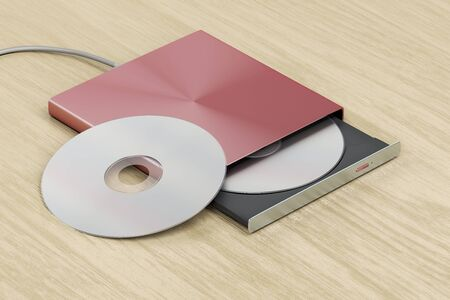 Unità ottica esterna su tavolo in legno