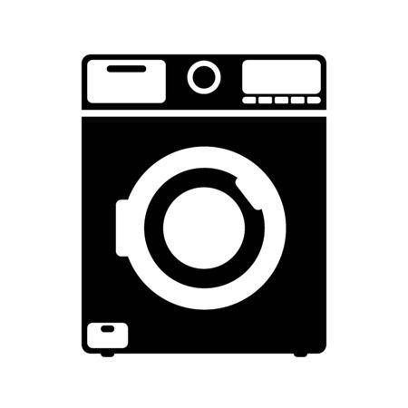 Simplified icon of washing machine, isolated on white background Vektorové ilustrace