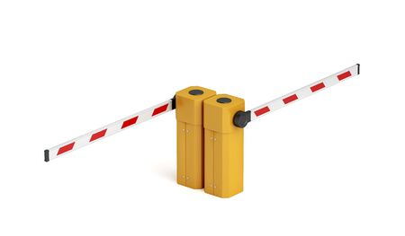 Double parking barrier on white background