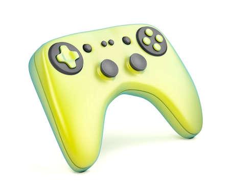 Colorful gaming controller on white background Reklamní fotografie