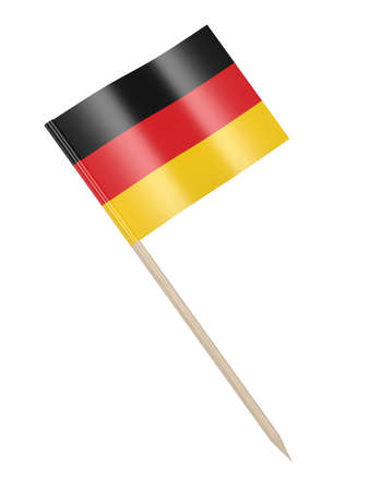 German flag toothpick isolated on white background