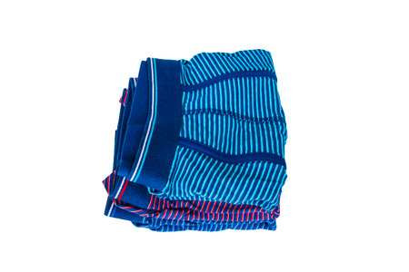 Set of male underwear isolated on white background.