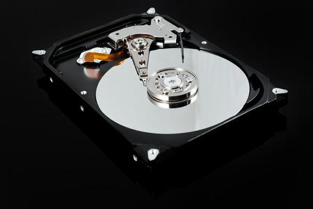 hard stuff: Opened external hard drive. Computer stuff. Selective focus Stock Photo