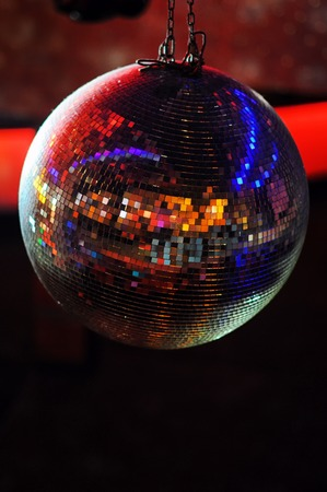 disco backdrop: Disco ball at nightclub. Party background. Selective focuse