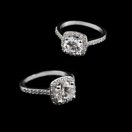 Luxusschmuck Weisses Gold Oder Silber Verlobungsringe Mit Diamanten