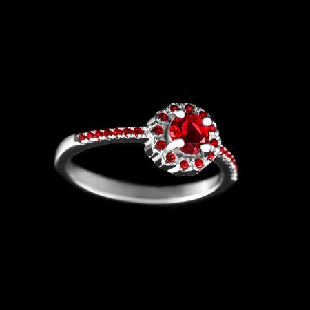 Connu Gioielli Di Lusso. Oro Bianco O Argento Anelli Con Diamanti. Messa  OJ36