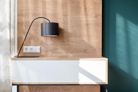 Lamp in modern minimalist loft interior empty room decoration Imagens