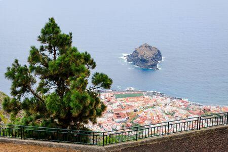 Beach in Tenerife, Canary Islands, Spain. Seascape Panorama Garachiko. Stok Fotoğraf