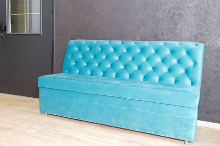 Luxury velour quilted sofa, home decor. Furniture design, classic interior and royal vintage. Reklamní fotografie