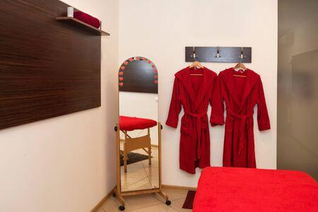 Massage room interior. Cosmetology office, spa salon.