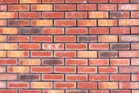 Red brick wall background. Old red brickwork texture.