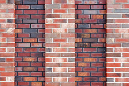 Red brick wall background. Old red brickwork texture. 免版税图像