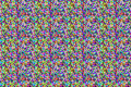Colorful pixel background. Noise signal LCD pixel screen, color digital glitch Фото со стока