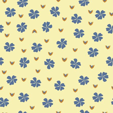 Bright and cheerful flower print pattern background. Ilustrace