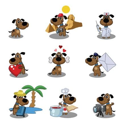 Juego lindo cachorro s icono