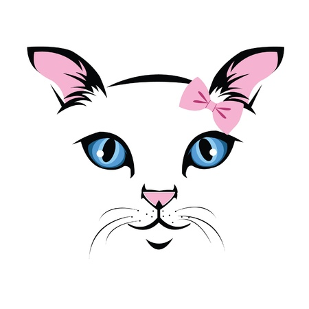 Sweetheart muzzle cat Vector