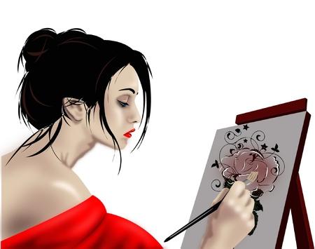 artists canvas: Woman artist