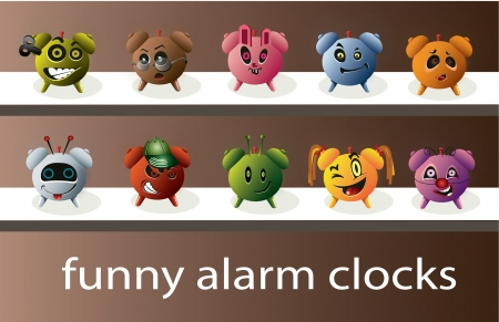 Set of funny and charming alarms Vector
