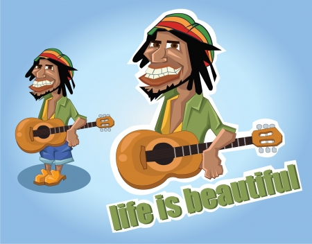rastafarian: A lively and cheerful person Illustration