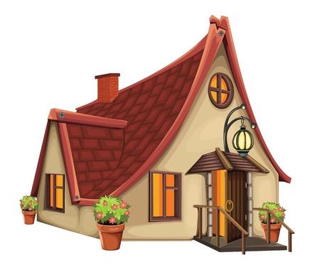Fantasy-Haus-Vektor-