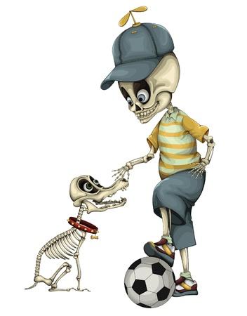 dead dog: Funny Skeleton vector