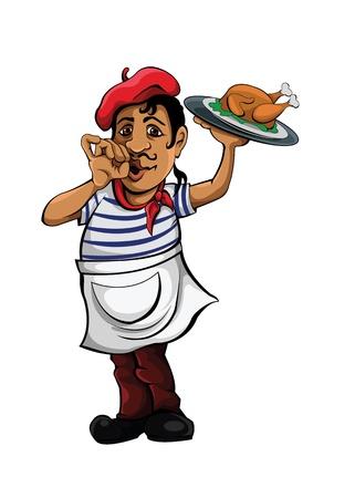 kitchen spanish: Garcon vector Illustration
