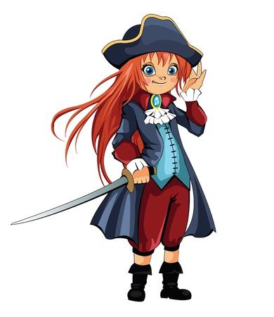 sombrero pirata: Muchacha del pirata