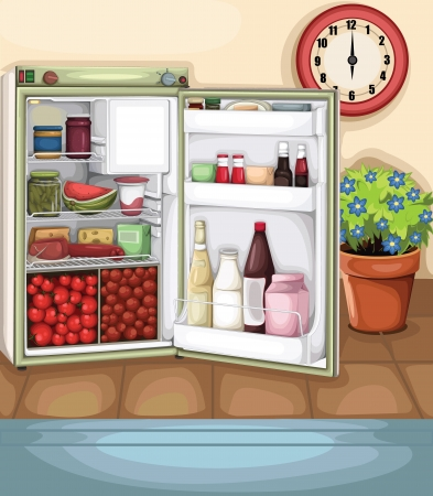 cold storage: Kitchen  Illustration