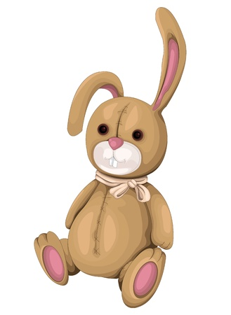 playthings: Plush Bunny Illustration